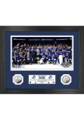 Tampa Bay Lightning 2021 Stanley Cup Champions Silver Coin Photo Mint Plaque