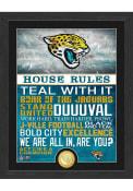 Jacksonville Jaguars House Rules Bronze Coin Photo Plaque