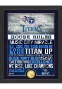Tennessee Titans House Rules Bronze Coin Photo Plaque