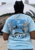 Chicago Light Blue Cloud Gate Sketch Short Sleeve T Shirt