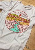 Missouri Oatmeal River Line Icon Short Sleeve Triblend T Shirt
