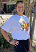 Dallas Women's 90s Themed Cropped Short Sleeve T-Shirt - White