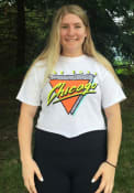 Chicago Women's 90s Themed Cropped Short Sleeve T-Shirt - White