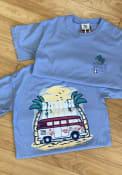 Dayton Flyers Womens Beach Vibes T-Shirt - Blue
