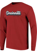 Cincinnati Stacked Retro Script T Shirt - Red