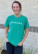 Eastern Michigan Eagles Womens Wordmark Dots T-Shirt - Green