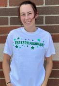 Eastern Michigan Eagles Womens Star T-Shirt - White