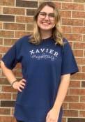 Xavier Musketeers Womens New Basic T-Shirt - Navy Blue
