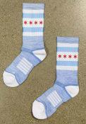 Chicago Strideline City Flag Crew Socks - White