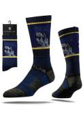 Strideline Drexel Dragons Mens Navy Blue Split Crew Socks