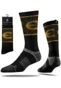 Strideline Emporia State Hornets Mens Black Split Crew Socks