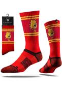 Strideline Ferris State Bulldogs Mens Red Split Crew Socks