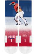 Elvis Andrus Texas Rangers Strideline Action Crew Socks - Red