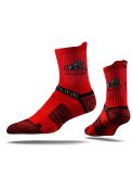 Strideline Drury Panthers Mens Red Performance Quarter Socks
