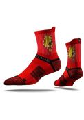 Strideline Ferris State Bulldogs Mens Red Performance Quarter Socks