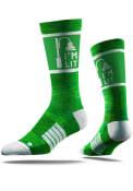 Strideline Manhattan Mens Green Im Lit St Pats Crew Socks