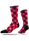 Dayton Flyers Strideline Step and Repeat Dress Socks - Navy Blue