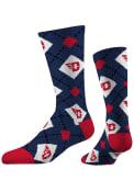 Dayton Flyers Strideline Repeat Argyle Socks - Blue