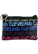 Cleveland Womens City Name Coin Purse - Black