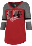 47 Detroit Red Wings Womens Red Club Rush T-Shirt
