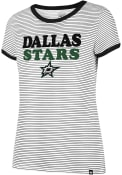 47 Dallas Stars Womens Striped Ringer White T-Shirt