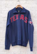 47 Texas Rangers Blue Striker 1/4 Zip Fashion Pullover