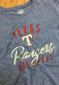 47 Texas Rangers Womens Blue Match Hero T-Shirt