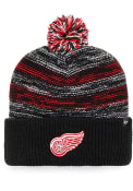 47 Detroit Red Wings Black Sideboard Cuff Knit Knit Hat