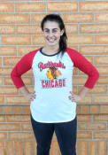 47 Chicago Blackhawks Womens Splitter Raglan White LS Tee