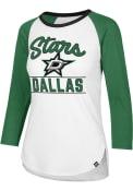 47 Dallas Stars Womens Splitter Raglan White LS Tee