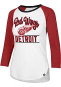 47 Detroit Red Wings Womens Splitter Raglan White LS Tee
