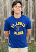 St Louis Blues 47 Varsity Arch T Shirt - Blue