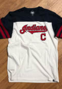 Cleveland Indians 47 Club Tri-Colored SS Fashion T Shirt - Ivory