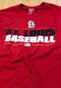 St Louis Cardinals 47 Super Rival T Shirt - Red