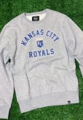 Kansas City Royals 47 Headline Crew Crew Sweatshirt - Grey