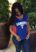 Texas Rangers Womens 47 Turnover Fashion Baseball Jersey - Blue