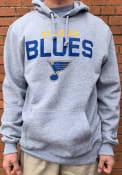 St Louis Blues 47 Pregame Headline Hooded Sweatshirt - Grey