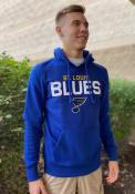 St Louis Blues 47 Pregame Headline Hooded Sweatshirt - Blue