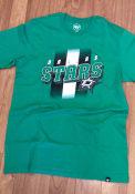 Dallas Stars 47 Jumbo Stripe T Shirt - Kelly Green