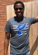 St Louis Blues 47 Stripe Chest Legion T Shirt - Blue