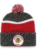 '47 Chicago Blackhawks Black Holcomb Cuff Knit Hat