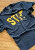 St Louis Blues 47 Block Club T Shirt - Navy Blue