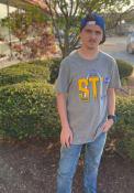 St Louis Blues 47 Block Arch T Shirt - Grey