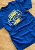 St Louis Blues 47 Stripe Backer T Shirt - Blue