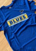 St Louis Blues 47 Block Line T Shirt - Blue