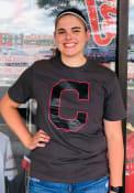 Cleveland Indians 47 Pop Imprint T Shirt - Charcoal