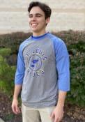 St Louis Blues 47 Match 3/4 Fashion T Shirt - Grey