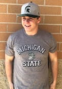 Michigan State Spartans Number One Match Fashion T Shirt - Grey