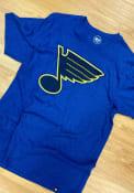 St Louis Blues 47 Club T Shirt - Blue