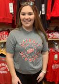 Detroit Red Wings 47 Circle Match Triblend Fashion T Shirt - Grey